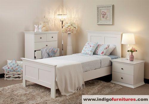 Set Tempat Tidur Anak Warna Putih