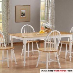 Set Meja Makan 4 Kursi Putih