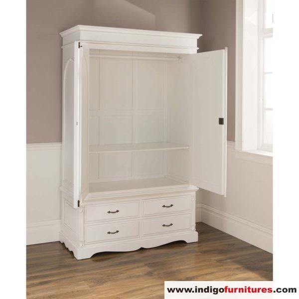 Lemari Baju Pintu Warna Putih