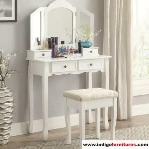 Meja Rias Minimalis Kayu Warna Putih