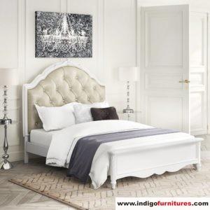 Tempat Tidur Jepara Duco Putih
