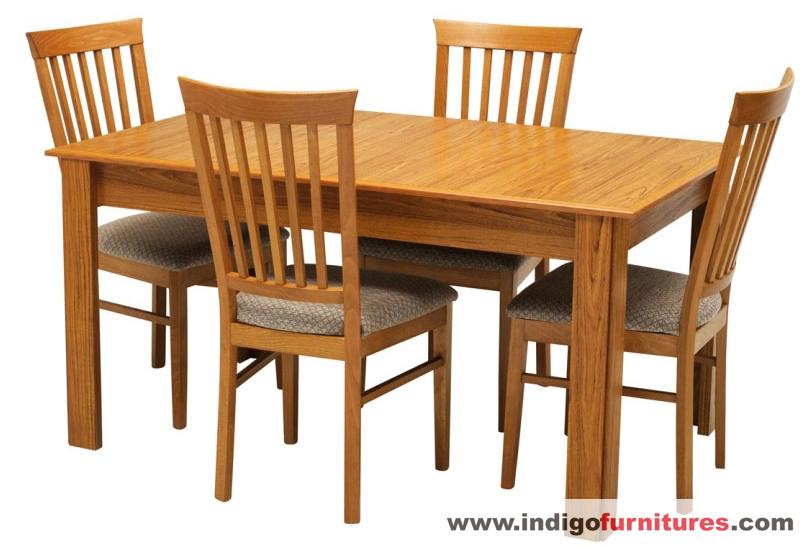 Set Meja Makan Kursi Kayu Jati Sederhana Indigo Furniture Jepara